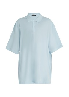 Balenciaga Oversized cotton-piqué polo shirt