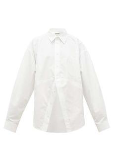Balenciaga Oversized cotton-poplin shirt