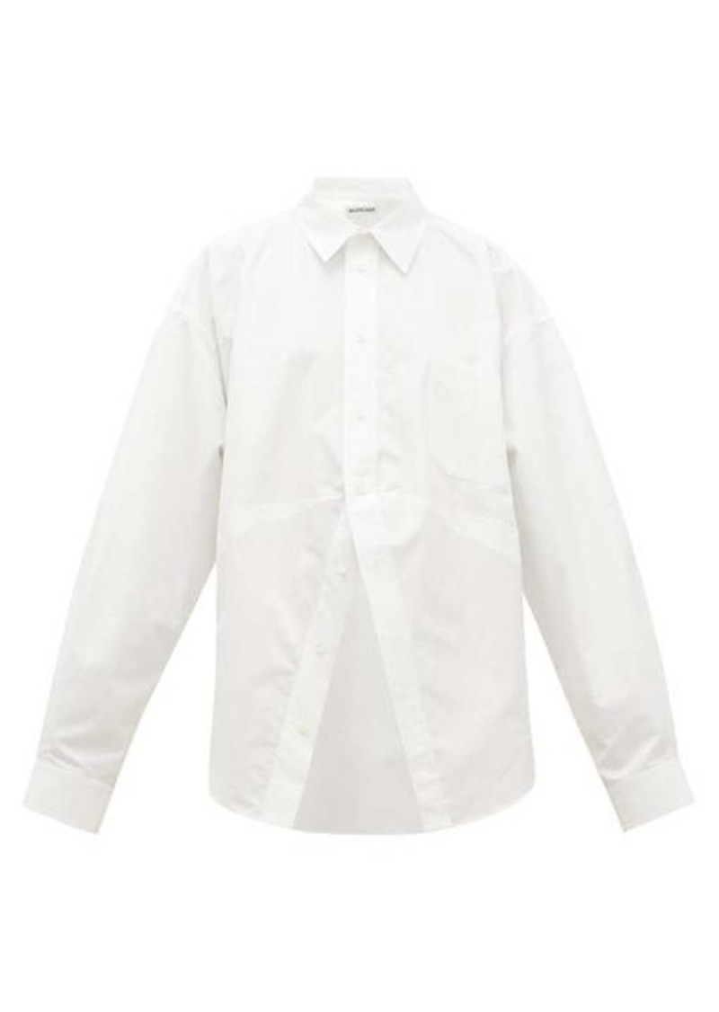 Balenciaga Oversized cotton-poplin shirt