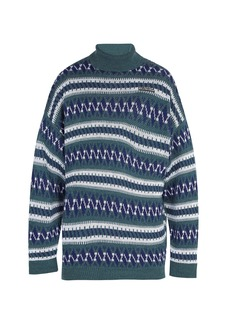 Balenciaga Oversized Fair Isle roll-neck sweater