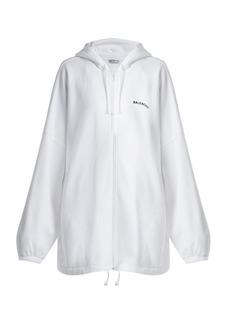 Balenciaga Oversized logo-embroidered cotton hoodie