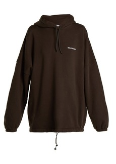 Balenciaga Oversized logo-embroidered sweatshirt