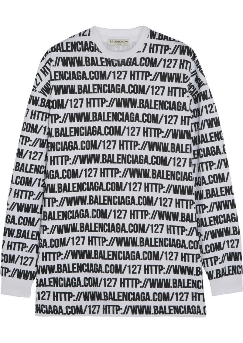 ec91fd174 Balenciaga Balenciaga Oversized printed cotton-jersey sweatshirt ...