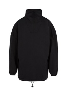 Balenciaga Oversized quarter-zip fleece sweatshirt