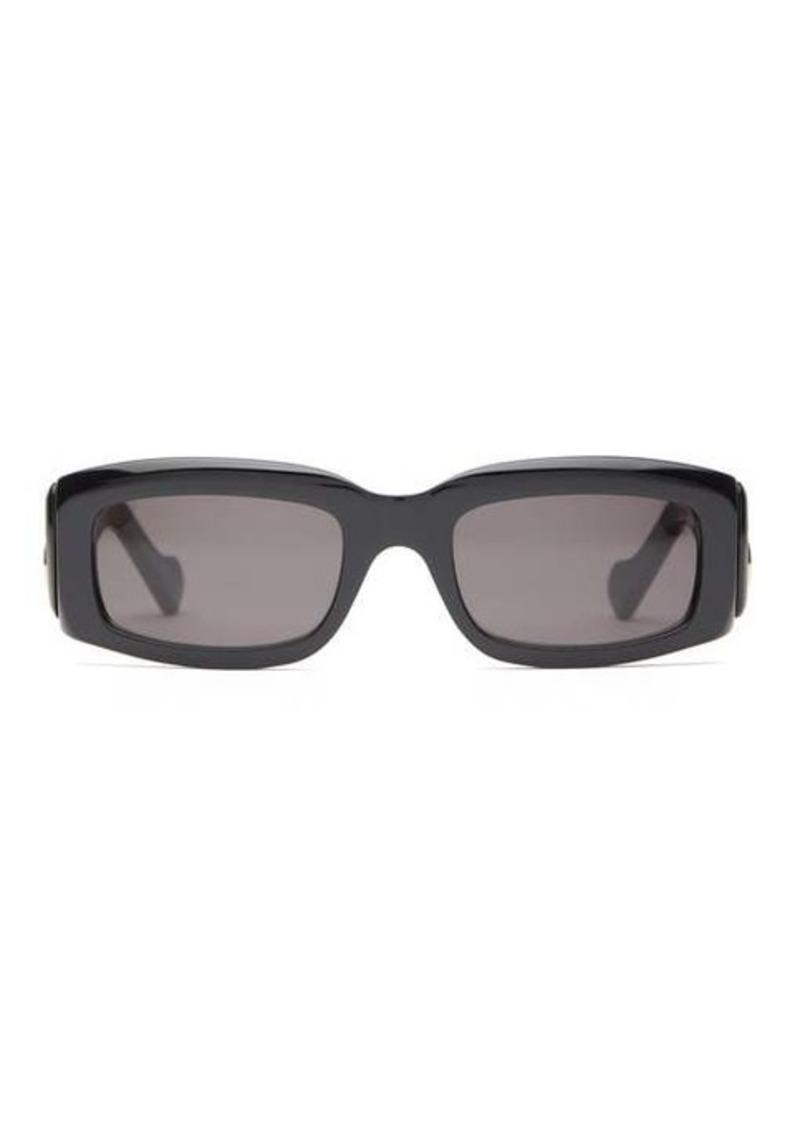 Balenciaga Oversized rectangle acetate sunglasses