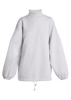 Balenciaga Oversized roll-neck cotton sweatshirt