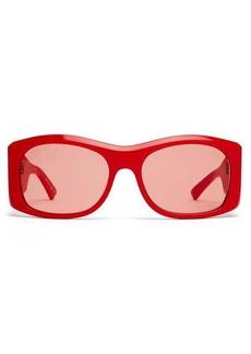 Balenciaga Oversized round acetate sunglasses