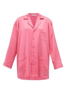 Balenciaga Oversized satin pyjama shirt