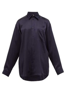 Balenciaga Oversized silk-satin blouse
