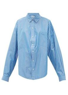 Balenciaga Oversized striped cotton-blend shirt