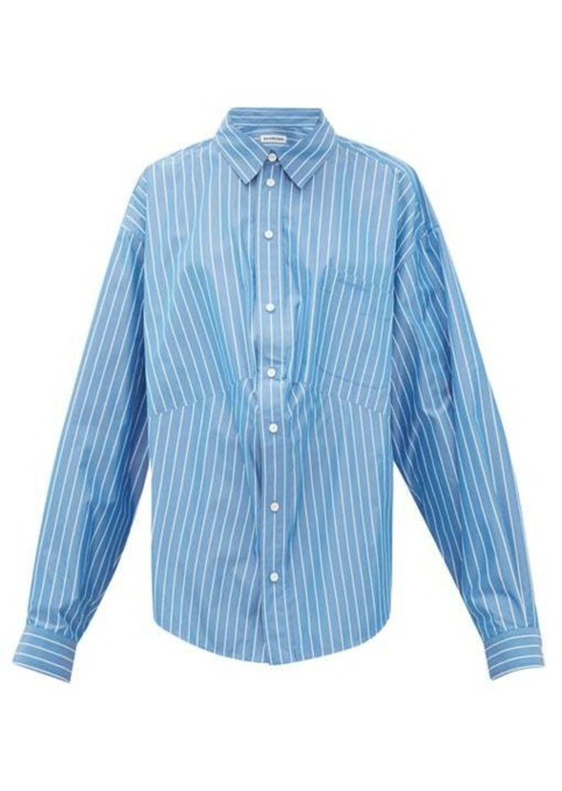 Balenciaga Oversized striped cotton-blend shirt