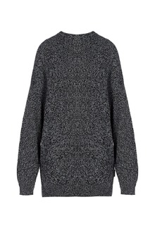 Balenciaga Oversized wool-blend crew-neck sweater