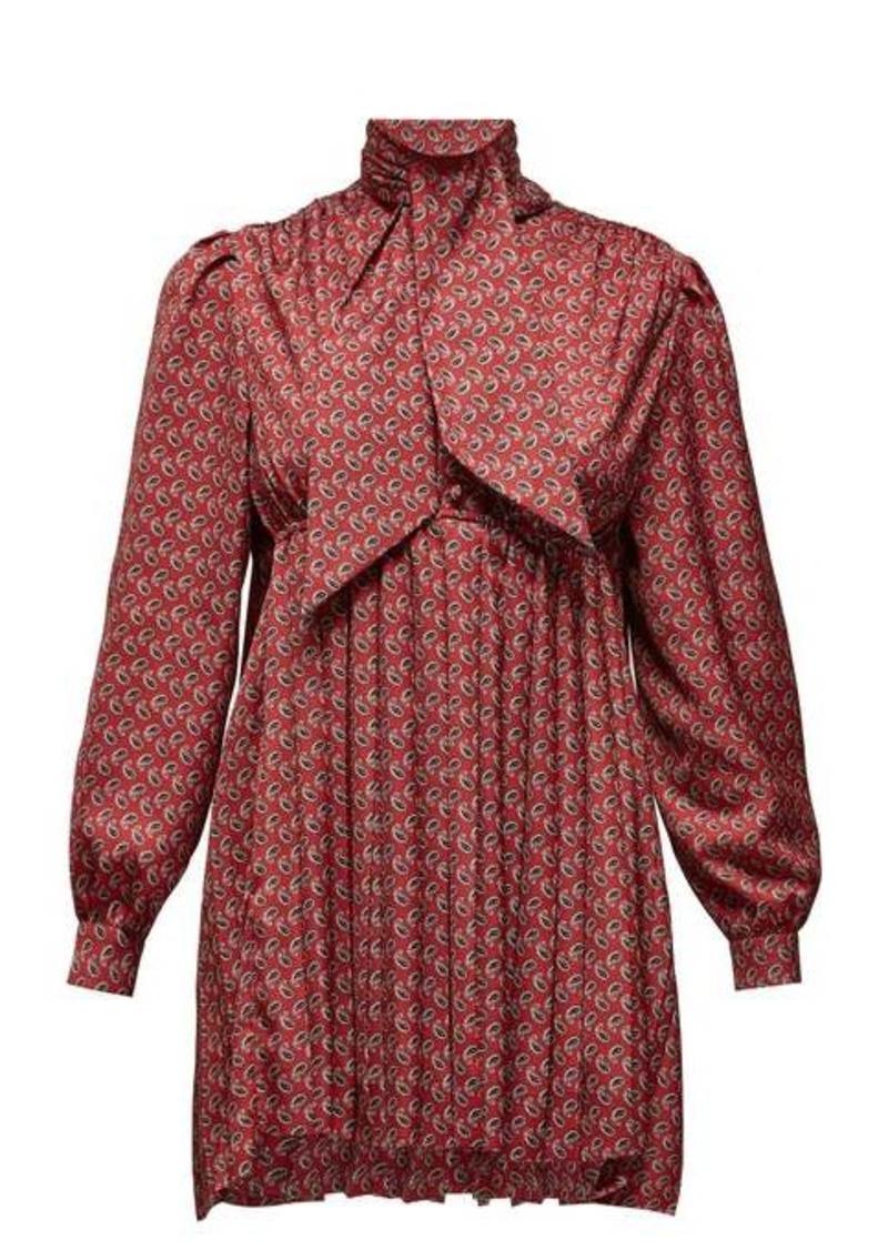 Balenciaga Pussy-bow silk-satin blouse