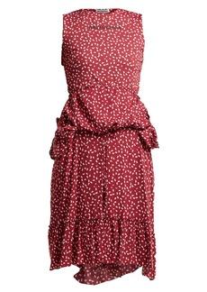 Balenciaga Paisley-print layered dress