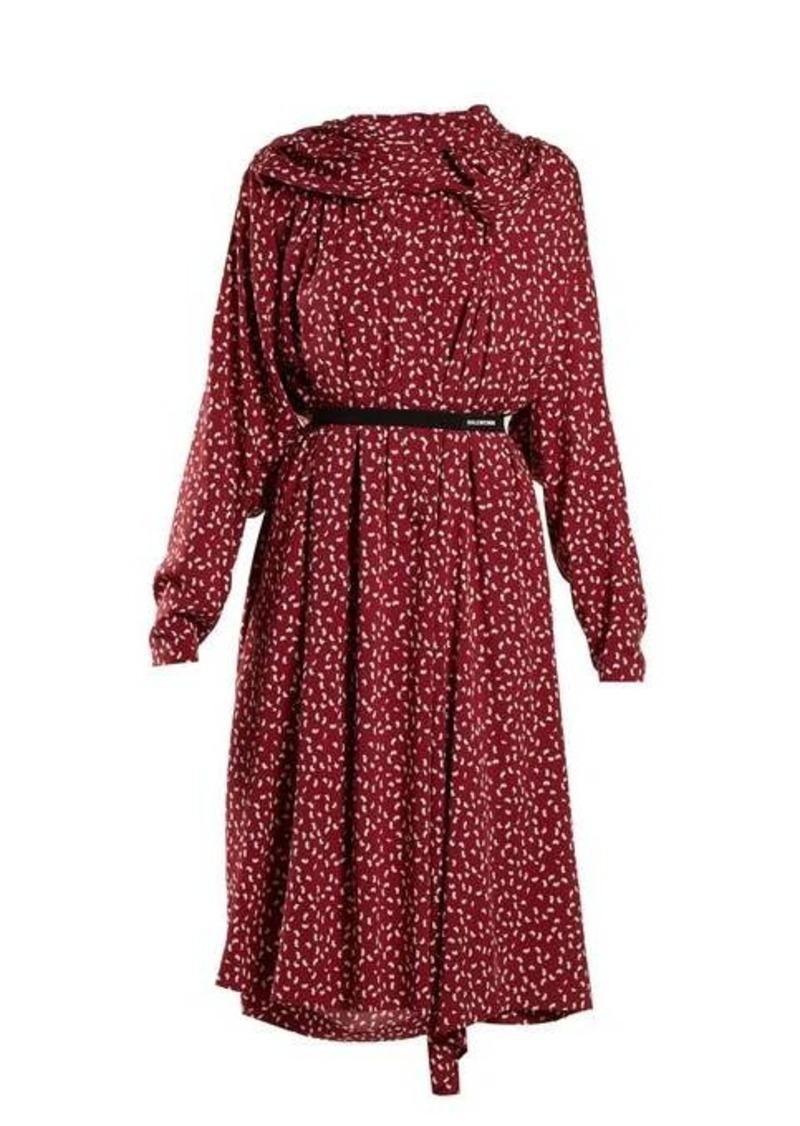 Balenciaga Paisley-print midi dress