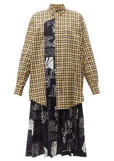 Balenciaga Panelled silk and cotton dress