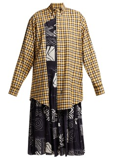 Balenciaga Panelled silk and cotton dress