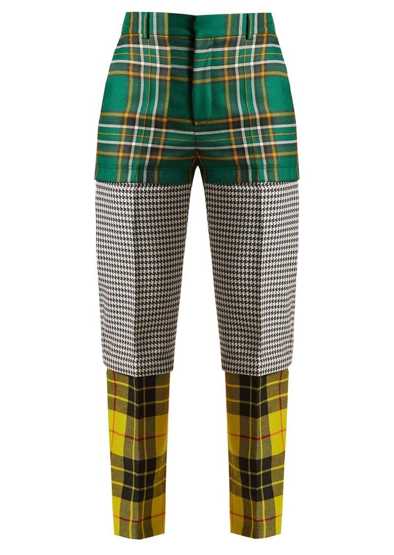 c91df5b0a26f Balenciaga Panelled straight-leg wool trousers