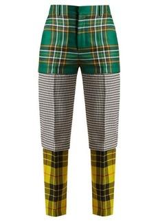 Balenciaga Panelled straight-leg wool trousers