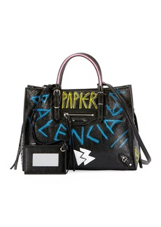 Balenciaga Papier A6 Zip Around Graffiti Tote Bag