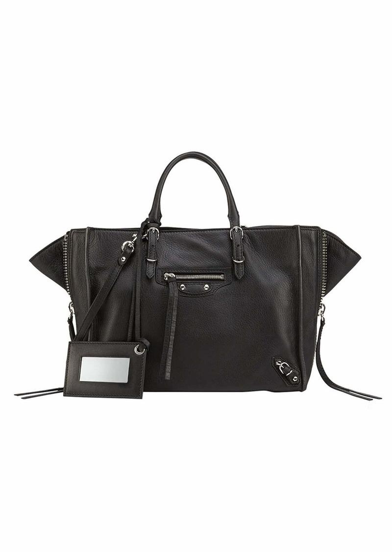 Balenciaga Papier A6 Zip Around Tote Bag Black  1a5902c867e81