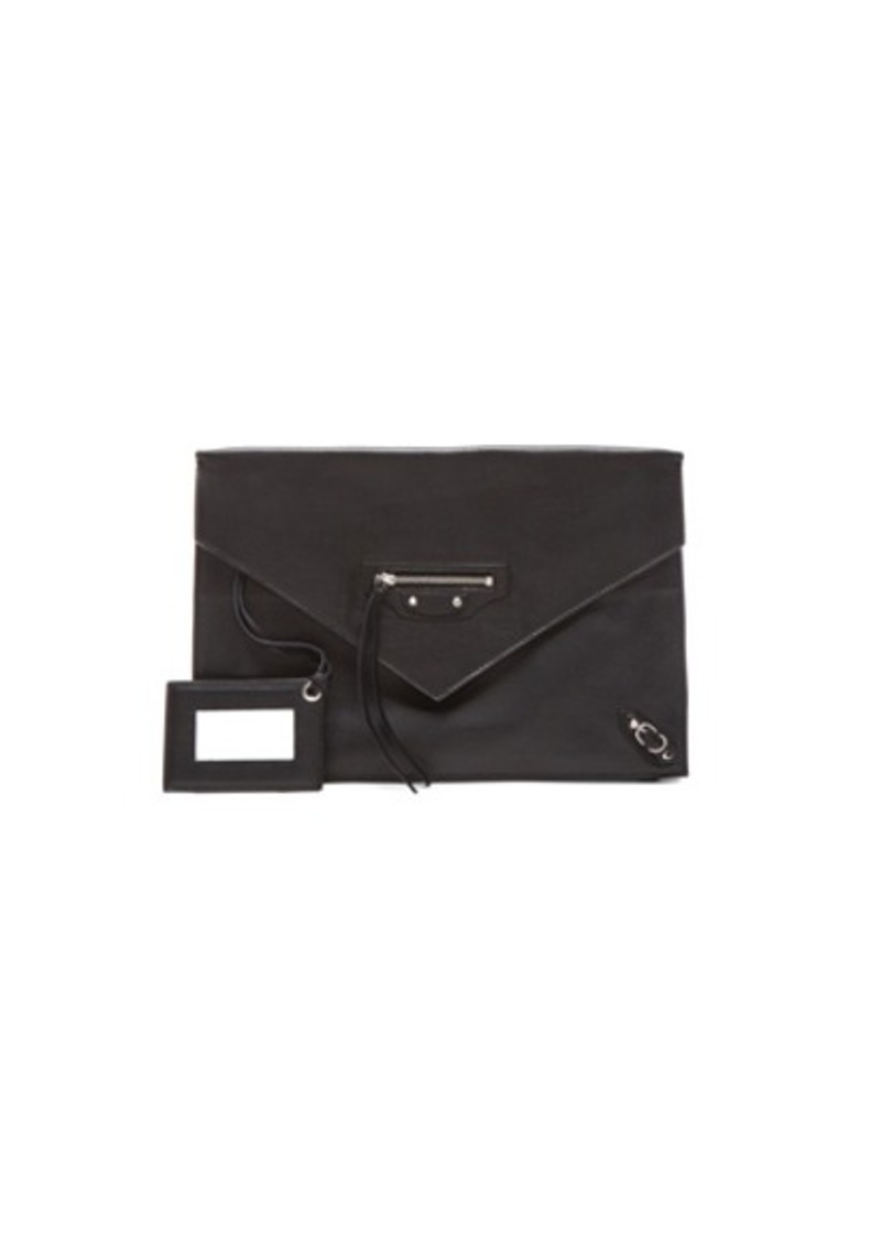 Balenciaga Papier Zip Around Sight Clutch