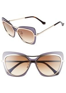Balenciaga Paris 57mm Layered Butterfly Sunglasses