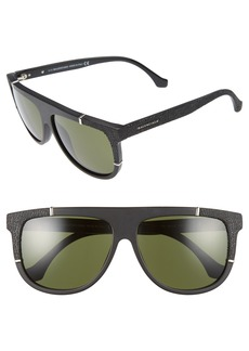 Balenciaga 58mm Flat Top Sunglasses