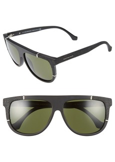 Balenciaga Paris 58mm Flat Top Sunglasses