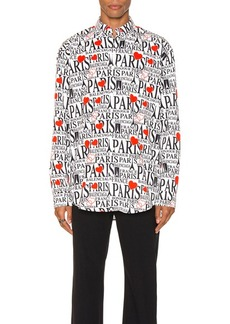 Balenciaga Paris Bonjour Long Sleeve Shirt