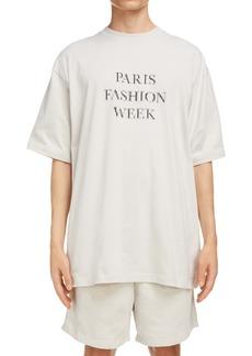 Balenciaga Paris Fashion Week Oversize Graphic Tee