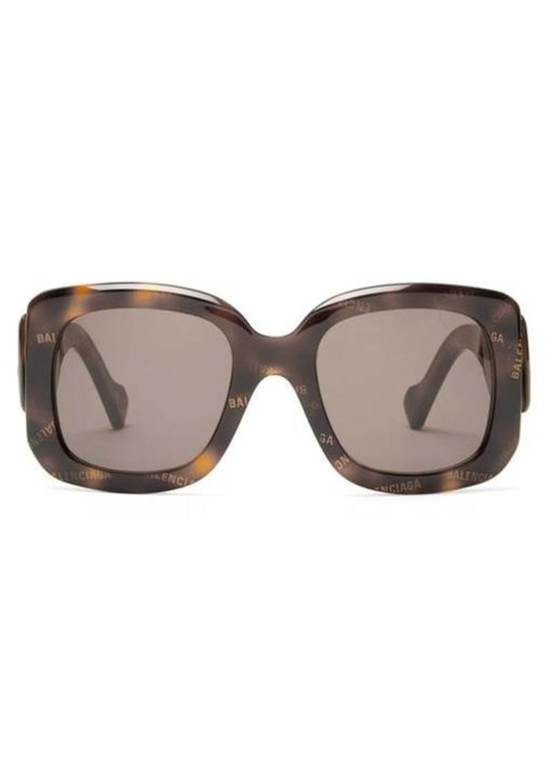 Balenciaga Paris monogram square acetate sunglasses