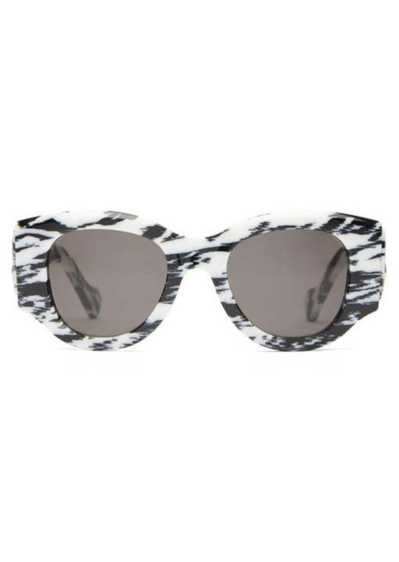 Balenciaga Paris zebra-effect acetate sunglasses