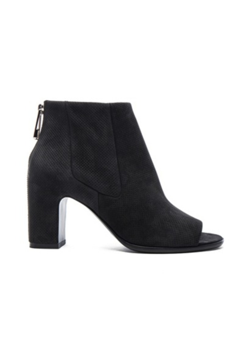 Balenciaga Perforated Leather Open Toe Booties