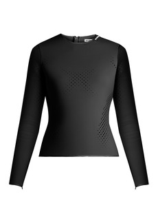 Balenciaga Perforated neoprene top