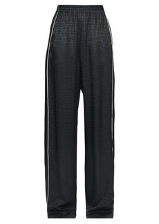 Balenciaga Piped houndstooth-jacquard wide-leg trousers