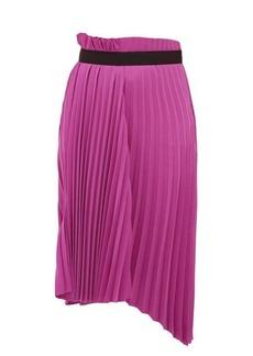 Balenciaga Pleated asymmetric midi skirt