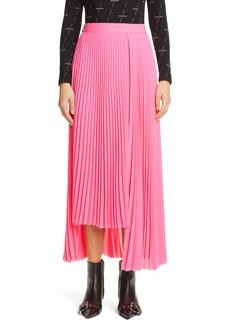 Balenciaga Pleated Asymmetrical Skirt