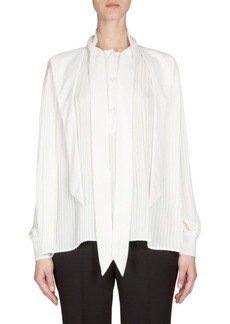 Balenciaga Pleated Button-Front Blouse