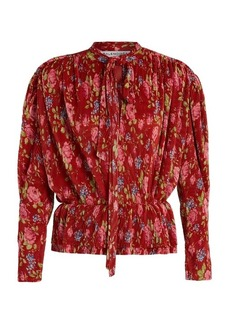 Balenciaga Pleated Lavalliere blouse