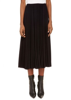 Balenciaga Pleated Midi Skirt