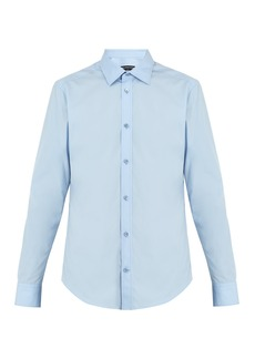 Balenciaga Point-collar single-cuff cotton shirt