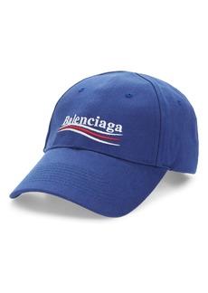Balenciaga Political Embroidered Logo Baseball Cap