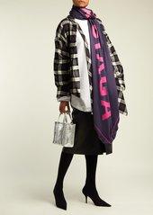Balenciaga Polka-dot logo silk-twill scarf