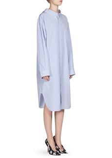 Balenciaga Poplin Striped Shirt Dress