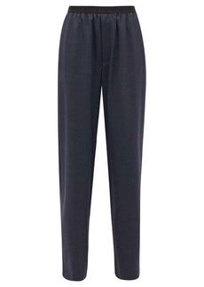 Balenciaga Prince of Wales-check elasticated wool trousers