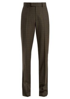 Balenciaga Prince of Wales-checked high-rise trousers
