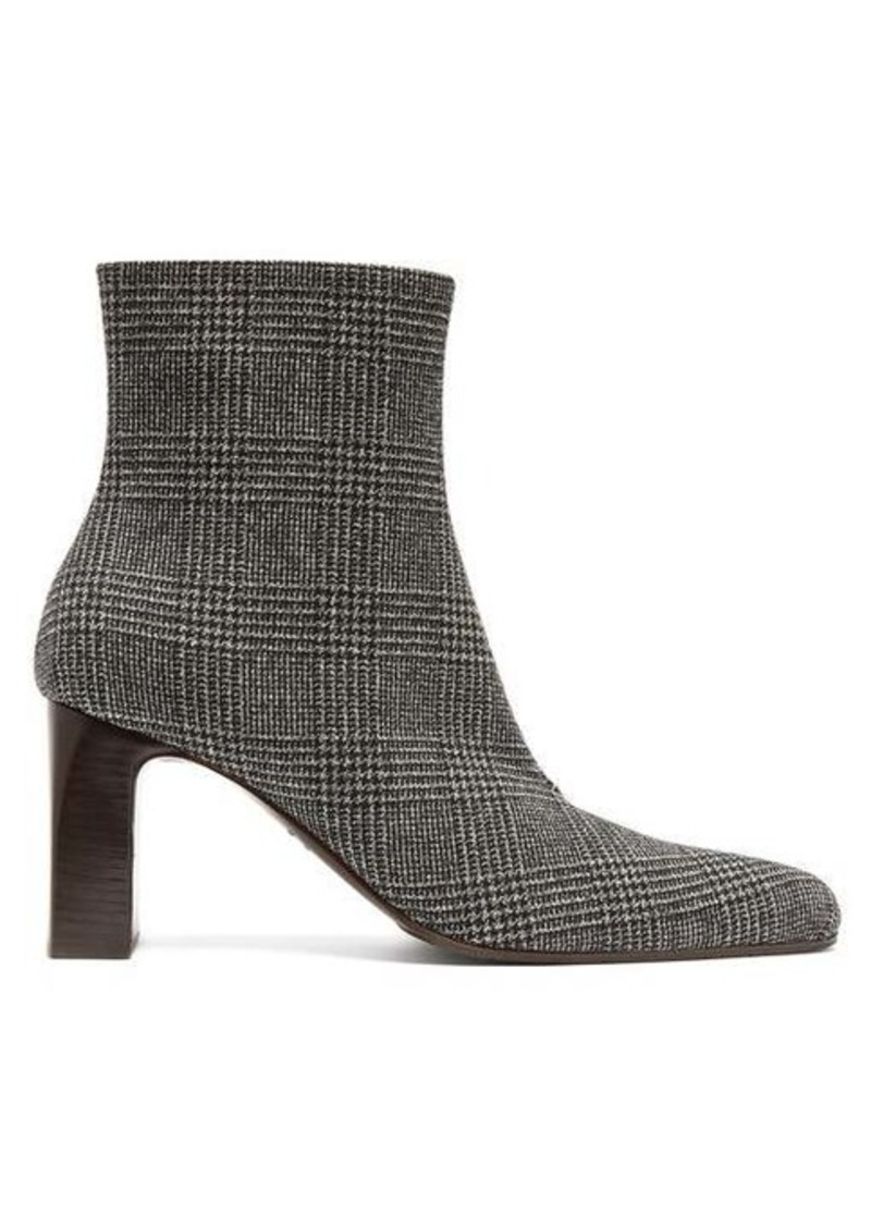 Balenciaga Prince of Wales checked twill ankle boots