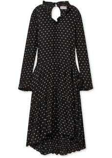 Balenciaga Printed Crinkled-silk Midi Dress