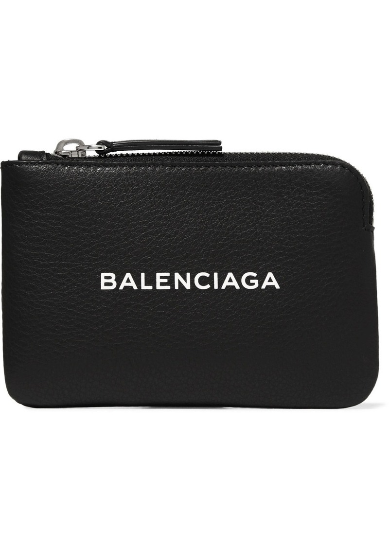 Balenciaga Printed Textured Leather Pouch